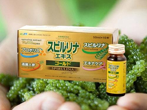 Uống tảo vàng dạng nước EX Spirulina có tác dụng gì-1