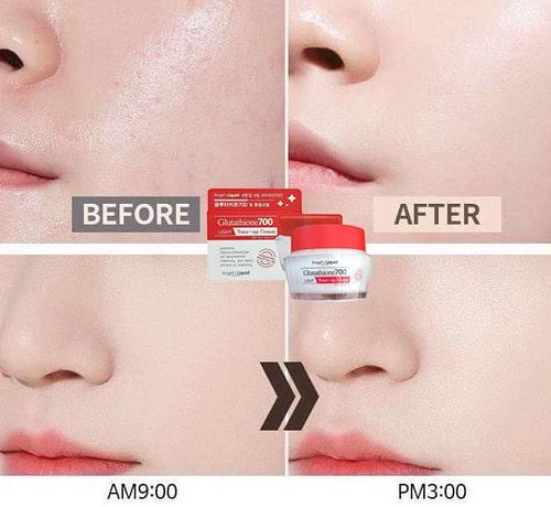 Kem dưỡng Glutathione 700 Light Tone Up Cream có tác dụng gì-3