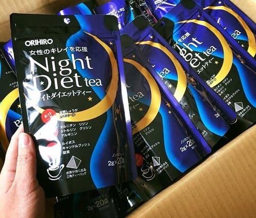 Trà giảm cân Orihiro Night Diet Tea cách sử dụng-1