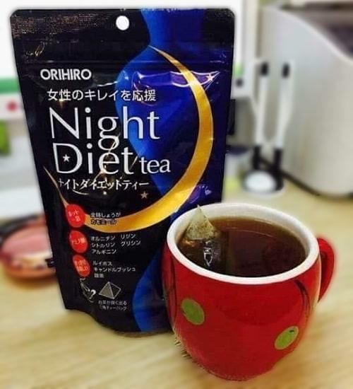 Trà giảm cân Orihiro Night Diet Tea cách sử dụng-3