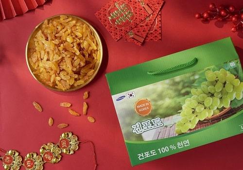 Nho khô Hàn Quốc hộp 1kg review-3