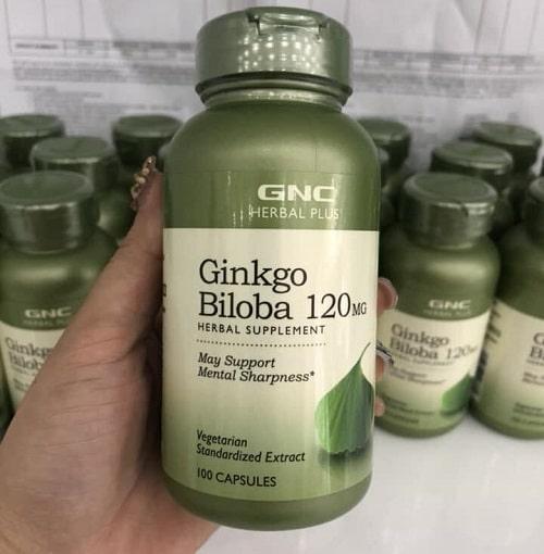 Cách sử dụng thuốc bổ não Ginkgo Biloba 120mg GNC-2