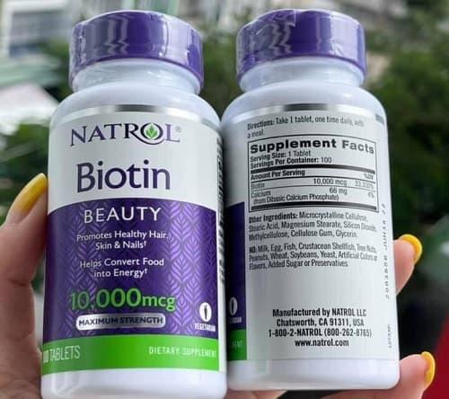 Natrol Biotin 10000mcg cách dùng?-2