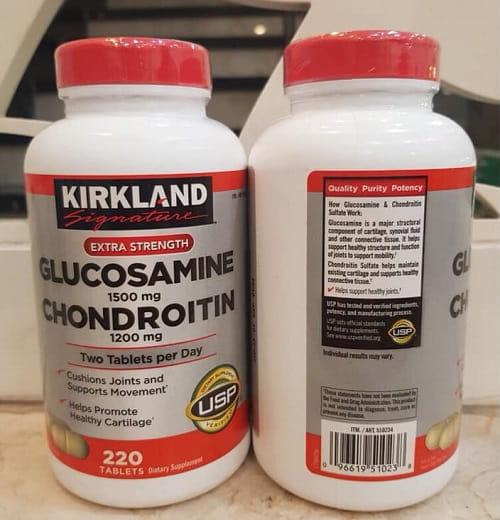 Cách sử dụng Kirkland Glucosamine Chondroitin của Mỹ-2