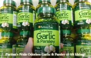 Puritan's Pride Odorless Garlic & Parsley có tốt không?-1
